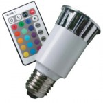 CLE LED RGB System 5W E27 230V m. 1 Fernbedienung.