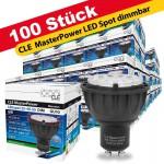 100x CLE Master Power LED 6W GU10 3000K 230V 25-40-60° DIM