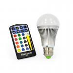CLE LED Glühlampe E27 5W RGB mit Fernbedienung